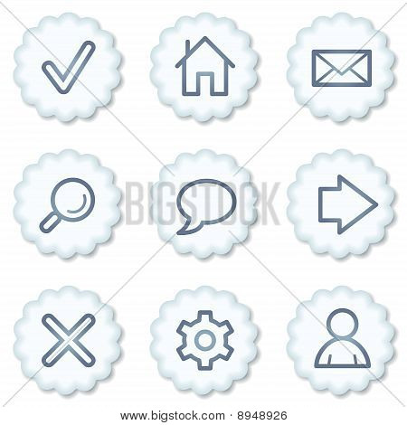Basic Web Icons, White Buttons