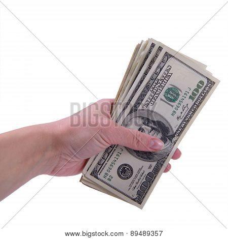 Human Hand Keep Dollars