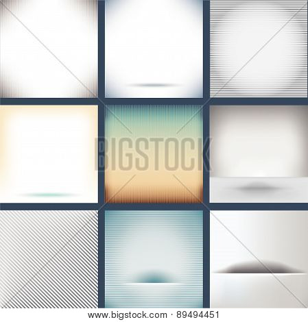 Nine Assorted Plain Backgrounds
