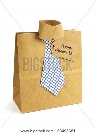 Fathers Day shirt and tie gift bag