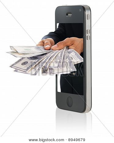 Giving Money Over Smart Phone