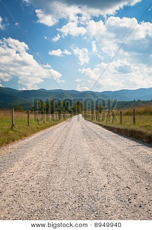 Cades Cove Rural Dirt Road Farm Landscape