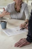 image of divorce-papers  - Elderly marriage having discussion about divorce - JPG