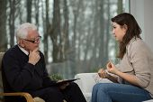 stock photo of counseling  - Young women uses individual psychological counseling - JPG