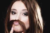 picture of moustache  - equality and feminism concept  - JPG