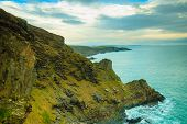 stock photo of atlantic ocean  - Irish landscape - JPG