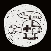 foto of rescue helicopter  - Medical Helicopter Doodle - JPG