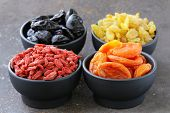image of apricot  - Assorted dried fruits  - JPG