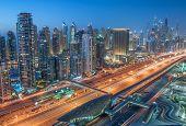pic of marina  - A skyline panoramic view of Dubai Marina showing the Marina and Jumeirah Beach Residence - JPG