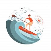 image of paddling  - Stand Up Paddle Surfing - JPG