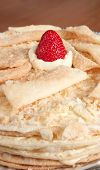 picture of custard  - Close Up of a Napoleon Cake a Russian Variation of a French Pastry Mille - JPG