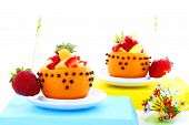 stock photo of fruit platter  - studio environment photographed with white background mixed fruit platter - JPG