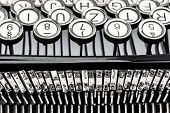 foto of groping  - keys of an old typewriter - JPG
