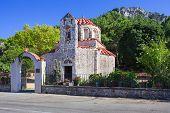 picture of nicholas  - Very Old Small Orthodox Christian Church Saint Nicholas at Rhodes Island - JPG