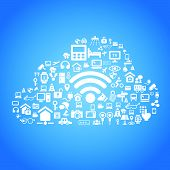 stock photo of social-security  - Internet of things and cloud computing concept  - JPG