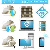 Постер, плакат: Vector Computer Icons Set 3
