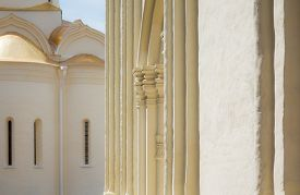 pic of trinity  - Architectural details Trinity Cathedral in the Trinity Lavra of St - JPG