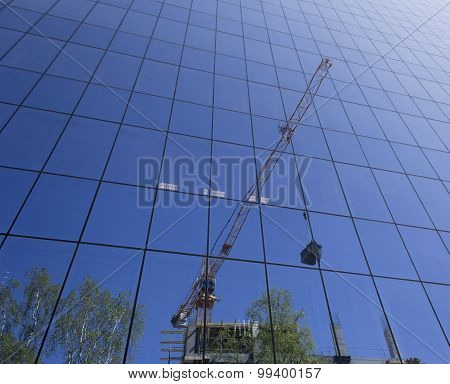 Reflection Of Building Construction