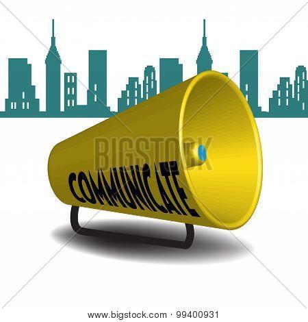 Communicate megaphone