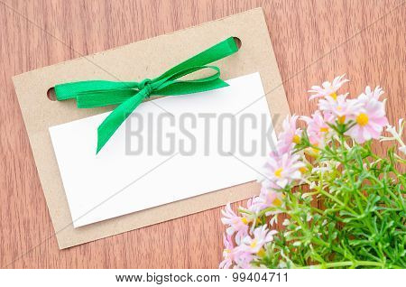 Flowers And Empty Tag For Your Text.