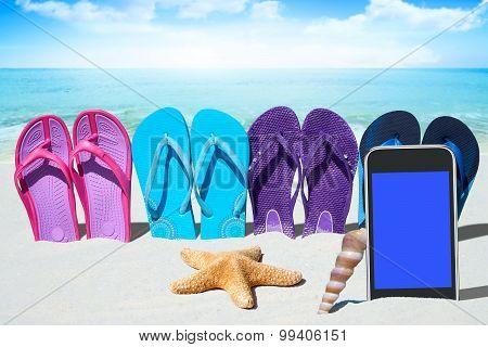 Black Smartphone On The Beach