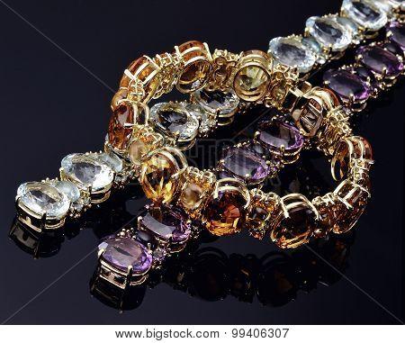 Bracelets Colored Opal
