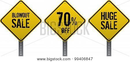 Sale Traffic Signs