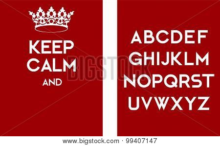 Keep Calm Empty Poster Red