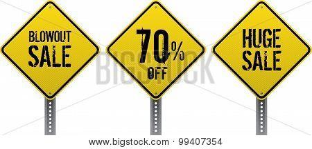 Sale Traffic Signs
