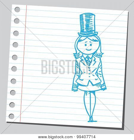 Businesswoman with top hat