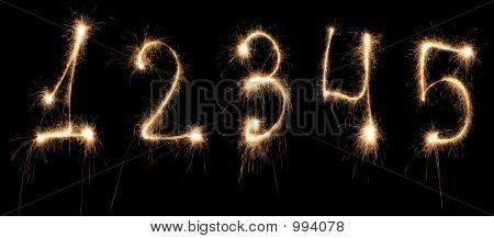 Anniversary Numbers Sparkler