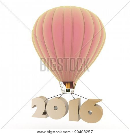 2016 a year flies on a balloon