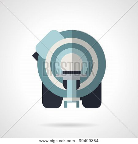 CT scanner flat vector icon