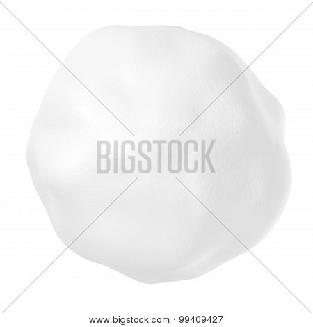 Snowball Isolated On White