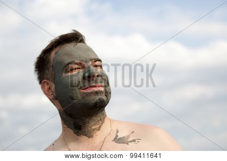 Man With Black Healthy Mud