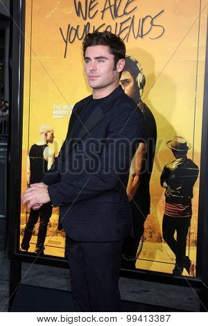 LOS ANGELES - AUG 20:  Zac Efron at the