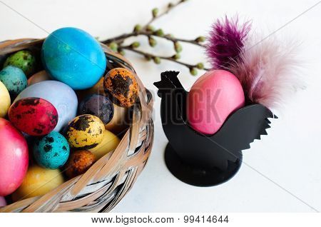 Easter Decoration With Eggs And Easter