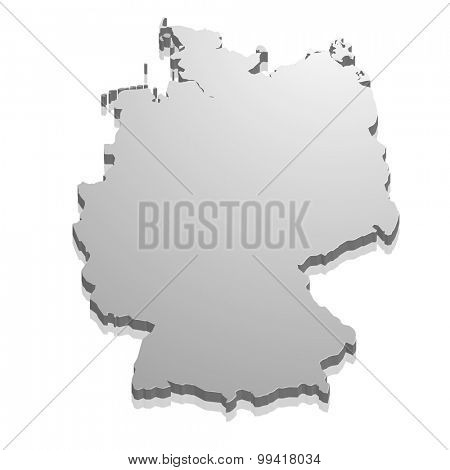 detailed illustration of a map of Germany, eps10 vector