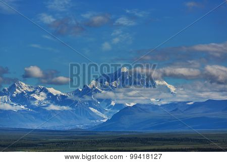 Denali (McKinley) peak in Alaska,USA
