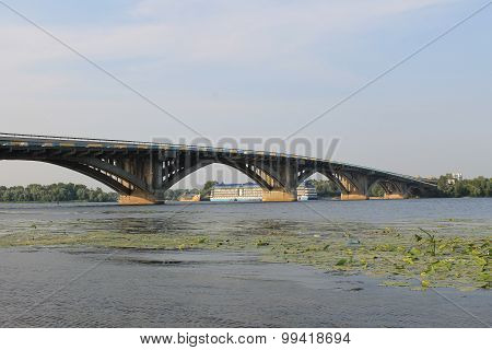 Bridge across river Dnieper in Kiev