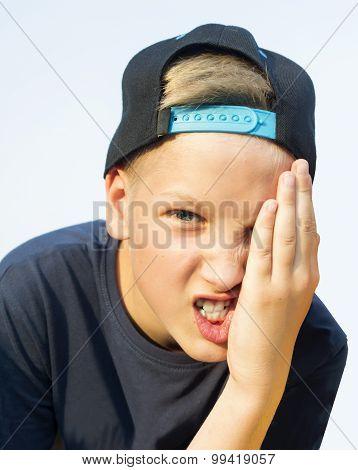 Angry Teenager Screaming