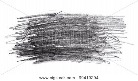 Pencil Doodle Scribbles Isolated On White Background
