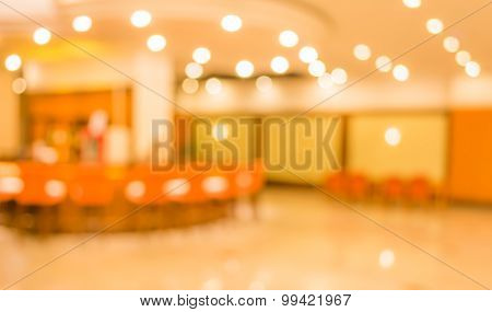 Image Of Blur  Lobby In Hotel
