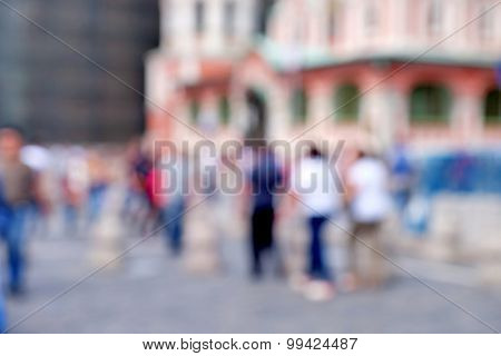 Abstract blurred city background