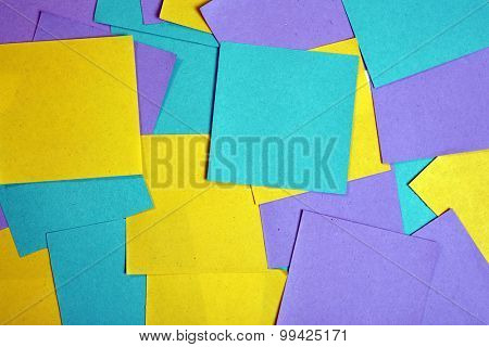 Colorful paper notes background