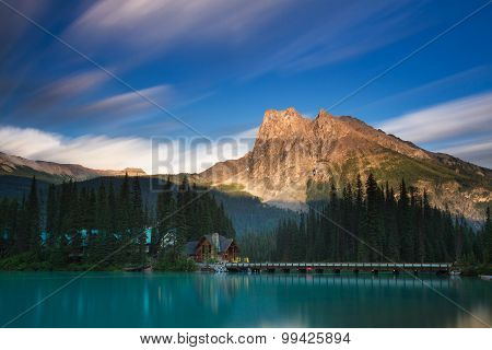 Emerald Lake In The Evening Light