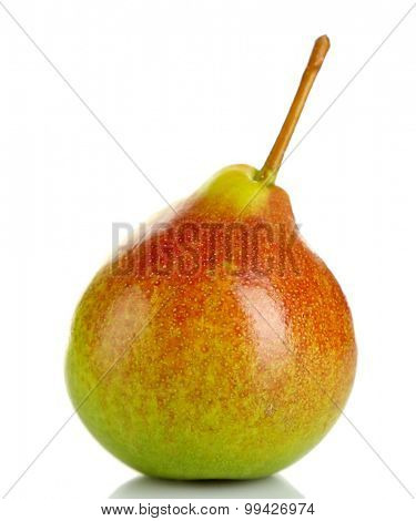 Ripe tasty pear isolated on white