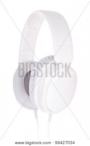Headphones isolated on white