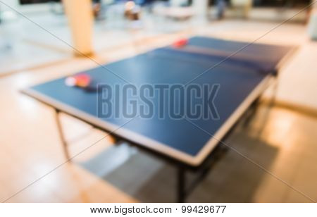 Image Of Blur Table Tennis Equipment