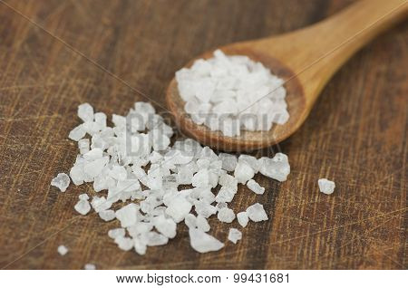 Coarse Sea Salt Close Up